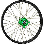 DNA Specialty Front Wheel 1.40x19 - Green/Black - Kawasaki KX100 Dirt Bike Complete Wheels