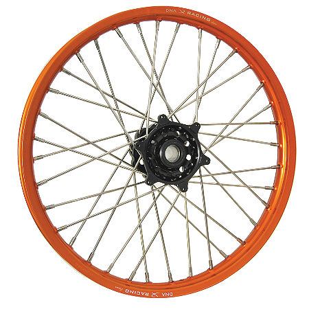 DNA Specialty Front Wheel 1.60X21 - Black/Orange - Main
