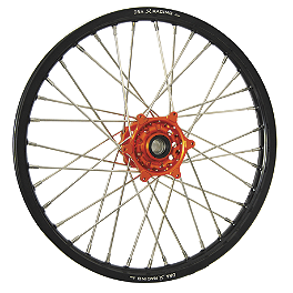 DNA Specialty Front Wheel 1.60X21 - Orange/Black - DNA Specialty Rear Wheel 2.15X18 - Orange/Black