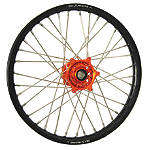 DNA Specialty Front Wheel 1.60X21 - Orange/Black - DNA Specialty Dirt Bike Dirt Bike Parts