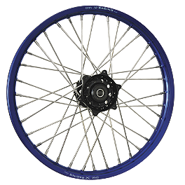 DNA Specialty Front Wheel 1.60X21 - Black/Blue - DNA Specialty Rear Wheel 2.15X18 - Red/Black