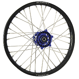 DNA Specialty Front Wheel 1.60X21 - Blue/Black - DNA Specialty Rear Wheel 1.85X19 - Red/Black