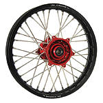 DNA Specialty Rear Wheel 1.85X19 - Red/Black - Honda CR125 Dirt Bike Complete Wheels