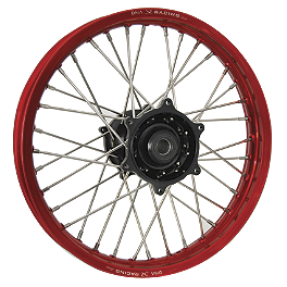DNA Specialty Rear Wheel 2.15X19 - Black/Red - 2002 Honda CRF450R DNA Specialty Front Wheel 1.60X21 - Black/Black
