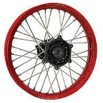 DNA Specialty Rear Wheel 2.15X18 - Black/Red - Honda CRF450X Dirt Bike Complete Wheels