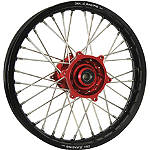 DNA Specialty Rear Wheel 1.85x16 - Red/Black - DNA Specialty Dirt Bike Dirt Bike Parts