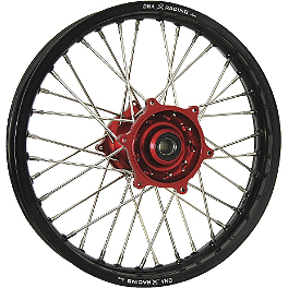 DNA Specialty Rear Wheel 2.15X19 - Red/Black - DNA Specialty Front Wheel 1.60X21 - Red/Black