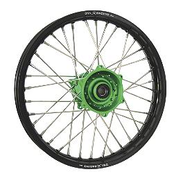 DNA Specialty Rear Wheel 1.85X19 - Green/Black - 2010 Kawasaki KX250F DNA Specialty Front Wheel 1.60X21 - Black/Black