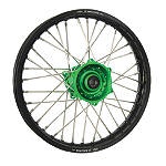 DNA Specialty Rear Wheel 1.85X19 - Green/Black - DNA Specialty Dirt Bike Products