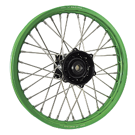 DNA Specialty Rear Wheel 2.15X19 - Black/Green - 2007 Kawasaki KX250 DNA Specialty Rear Wheel 2.15X19 - Green/Black