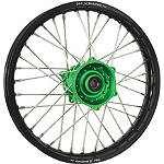 DNA Specialty Rear Wheel 1.85x16 - Green/Black - Kawasaki KX100 Dirt Bike Complete Wheels