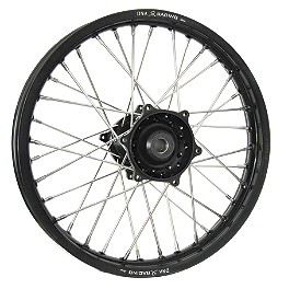 DNA Specialty Rear Wheel 2.15X18 - Black/Black - 2003 KTM 200EXC Warp 9 Complete Rear Wheel 2.15X18 - Silver/Black