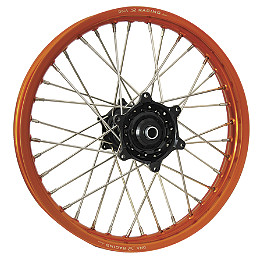 DNA Specialty Rear Wheel 2.15X18 - Black/Orange - 2004 KTM 525EXC Warp 9 Complete Rear Wheel 2.15X18 - Orange/Black