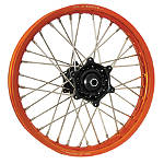 DNA Specialty Rear Wheel 2.15X18 - Black/Orange - KTM 525EXC Dirt Bike Complete Wheels
