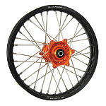 DNA Specialty Rear Wheel 2.15X18 - Orange/Black - Dirt Bike Complete Wheels