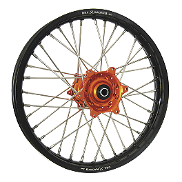 DNA Specialty Rear Wheel 2.15X19 - Orange/Black - 2005 KTM 250SXF Warp 9 Complete Rear Wheel 2.15X19 - Orange/Black