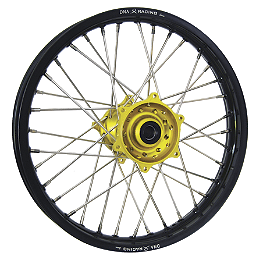 DNA Specialty Rear Wheel 1.85X19 - Yellow/Black - DNA Specialty Front Wheel 1.60X21 - Yellow/Black