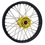 DNA Specialty Rear Wheel 1.85X19 - Yellow/Black - DNA Specialty Dirt Bike Dirt Bike Parts
