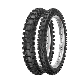 Dunlop 50 MX31 Front/Rear Combo - 2000 Husqvarna CR50J Junior Dunlop Geomax MX51 Front Tire - 2.50-12