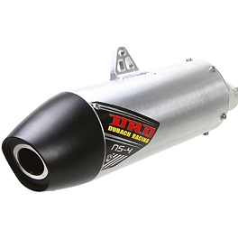 DR.D NS-4 Stainless Steel Complete Exhaust With Aluminum Can - 2012 Kawasaki KX250F Dr.D Complete Stainless Steel Exhaust With Spark Arrestor