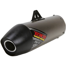 DR.D NS-4 Titanium Slip-On Exhaust With Titanium Can - Akrapovic Slip-On Line Titanium Exhaust With Spark Arrestor