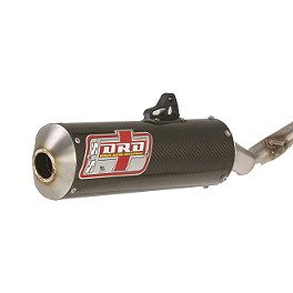 DR.D Carbon Fiber Complete Race Exhaust - 2006 Honda CRF450R Dr.D Complete Stainless Steel Exhaust With Spark Arrestor