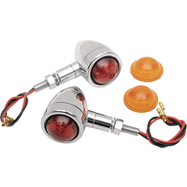 Drag Specialties Custom Bullet Marker Lights - Drag Specialties Mirror Adapter For Yamaha - Left