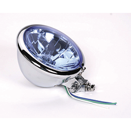 "Drag Specialties Diamond-Style Bottom Mount 5-3/4"" Headlight For Springer Front End - Drag Specialties Mini Deuce Marker Lights"