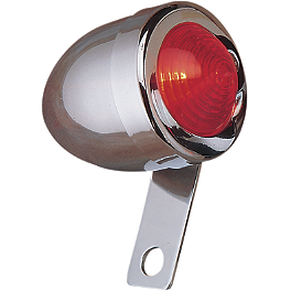 Drag Specialties Bullet Marker Light With Side-Mount Bracket - Left - Drag Specialties Mini Retro-Style Marker Light Replacement Lenses
