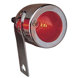 Drag Specialties Bullet Marker Light With Side-Mount Bracket - Right - Drag Specialties 3.50-4.00 X 18