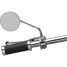 Drag Specialties Drag-Ness Round Mirror With Thin Stem - Drag Specialties Miller's Mirror Clamp