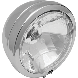 "Drag Specialties Diamond Style 4-1/2"" Spotlight - Show Chrome 3-1/2"