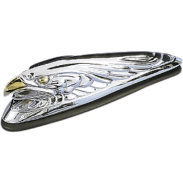 Drag Specialties Eagle Head Fender Ornament With Gold Eyes - Drag Specialties Diamond-Style Bottom Mount 5-3/4