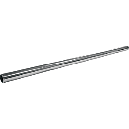 "Drag Specialties 1"" Stick Style Chrome Dimpled Handlebar - Drag Specialties Die-Cast Replacement Long Stem"