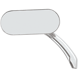 Drag Specialties Hotop Oval Mirror - Drag Specialties Teardrop Short-Stem Mirror