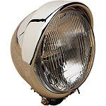 "Drag Specialties 5-3/4"" Headlight With Built-In Visor - Drag Specialties Cruiser Lighting"