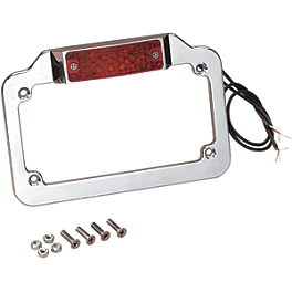 Drag Specialties LED License Plate Frame - Drag Specialties .38 Special Valve Stem Caps