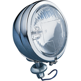 "Drag Specialties Late-Style 4-1/2"" Halogen Spotlamp - Cobra Replacement Spotlight Assembly - Standard"