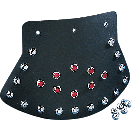 Drag Specialties Studded Mudflap With Diamond Center - Drag Specialties Rectangular Mirror