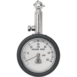 Drag Specialties 45 Degree 60 PSI Pressure Gauge - Drag Specialties Digital 100 PSI Pressure Gauge