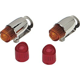Drag Specialties Pony Marker Lights - Drag Specialties Mini Retro-Style Marker Light Replacement Lenses
