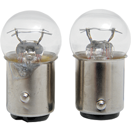 Drag Specialties Replacement Bulb For Marker Lights - Drag Specialties Gothic Mirror With Black Flame Stem - Right