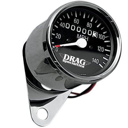 Drag Specialties Mini Speedometer With 1:1 Ratio - Main