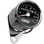 Drag Specialties Mini Speedometer With 1:1 Ratio - Drag Specialties Cruiser Dash and Gauges