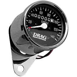 Drag Specialties Mini Speedometer With 2240:60 Ratio - Biker's Choice Mini Speedo With LED Indicator Light