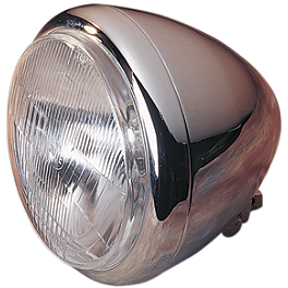 "Drag Specialties Custom 5-3/4"" Springer Style Headlight - Drag Specialties Diamond Style Bottom Mount 5-3/4"