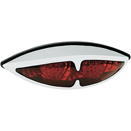 Drag Specialties ABS Deco Tail Light LED - Drag Specialties Cats Eye Oval Tail Light