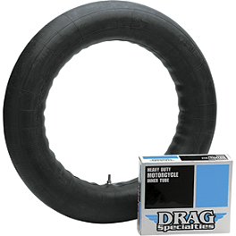 "Drag Specialties 5.00 X 15"" Side Rubber Valve Tube - Bridgestone Tube 110/100-18 Straight Metal Stem"