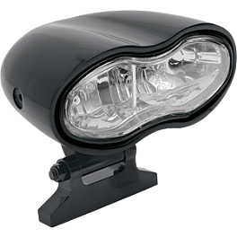 Drag Specialties Wave Headlight Assembly - Drag Specialties Die-Cast Replacement Long Stem