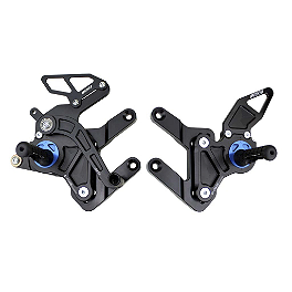 Driven Racing D-Axis Rearset - Black - 2010 Yamaha YZF - R6 Woodcraft Rearset Kit With Shift Pedal